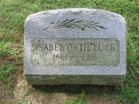 ORTH LUCE, ISABEL - Lancaster County, Pennsylvania | ISABEL ORTH LUCE - Pennsylvania Gravestone Photos