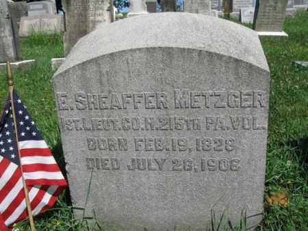 METZGER (CW), E. SHEAFFER - Lancaster County, Pennsylvania | E. SHEAFFER METZGER (CW) - Pennsylvania Gravestone Photos