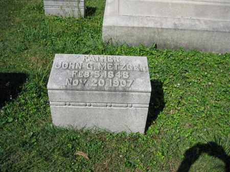 METZGER, JOHN G. - Lancaster County, Pennsylvania | JOHN G. METZGER - Pennsylvania Gravestone Photos