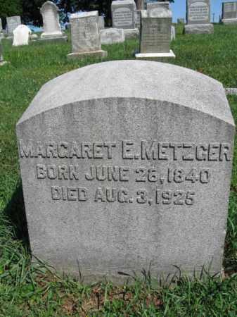 METZGER, MARGARET E. - Lancaster County, Pennsylvania | MARGARET E. METZGER - Pennsylvania Gravestone Photos