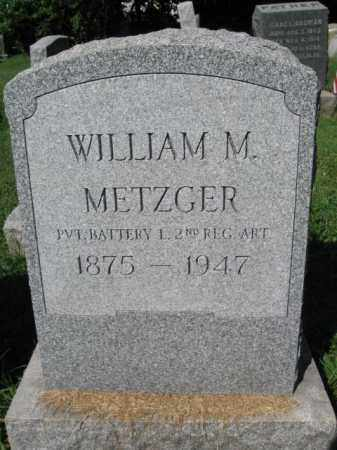 METZGER (SAW), WILLIAM M. - Lancaster County, Pennsylvania | WILLIAM M. METZGER (SAW) - Pennsylvania Gravestone Photos