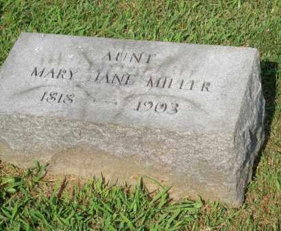 MILLER, MARY JANE - Lancaster County, Pennsylvania | MARY JANE MILLER - Pennsylvania Gravestone Photos
