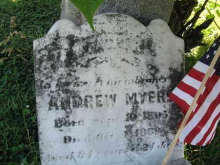 MYERS, ANDREW - Lancaster County, Pennsylvania   ANDREW MYERS - Pennsylvania Gravestone Photos