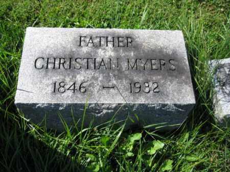 MYERS, CHRISTIAN - Lancaster County, Pennsylvania   CHRISTIAN MYERS - Pennsylvania Gravestone Photos