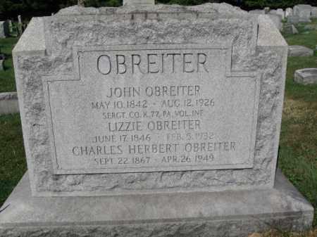 OBREITER (CW), JOHN - Lancaster County, Pennsylvania | JOHN OBREITER (CW) - Pennsylvania Gravestone Photos