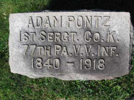 PONTZ (CW), ADAM - Lancaster County, Pennsylvania | ADAM PONTZ (CW) - Pennsylvania Gravestone Photos