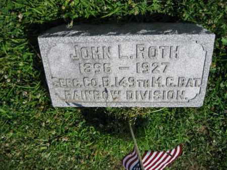 ROTH (WW I), JOHN L. - Lancaster County, Pennsylvania | JOHN L. ROTH (WW I) - Pennsylvania Gravestone Photos