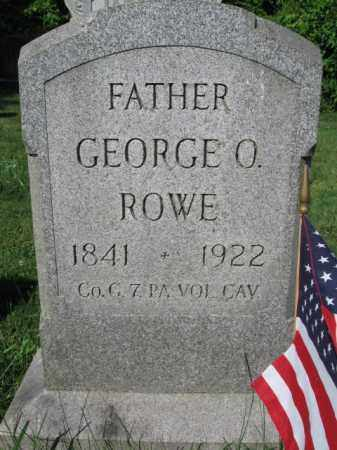 ROWE (CW), GEORGE ORIN - Lancaster County, Pennsylvania | GEORGE ORIN ROWE (CW) - Pennsylvania Gravestone Photos