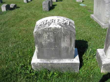 RUSH, MARY - Lancaster County, Pennsylvania | MARY RUSH - Pennsylvania Gravestone Photos
