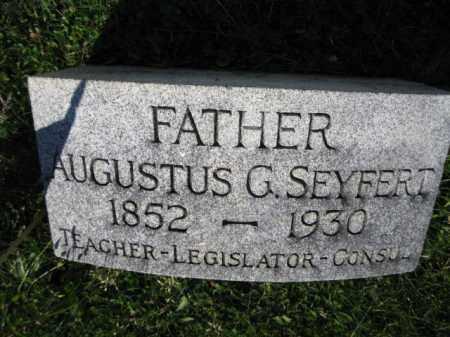 SEYFERT, AUGUSTUS G. - Lancaster County, Pennsylvania | AUGUSTUS G. SEYFERT - Pennsylvania Gravestone Photos