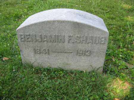 SHAUB, BENJAMIN F. - Lancaster County, Pennsylvania | BENJAMIN F. SHAUB - Pennsylvania Gravestone Photos