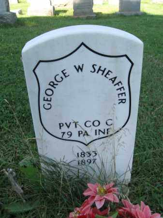 SHEAFFER (CW), GEORGE W. - Lancaster County, Pennsylvania | GEORGE W. SHEAFFER (CW) - Pennsylvania Gravestone Photos
