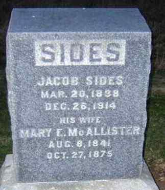 SIDES (CW), JACOB - Lancaster County, Pennsylvania   JACOB SIDES (CW) - Pennsylvania Gravestone Photos
