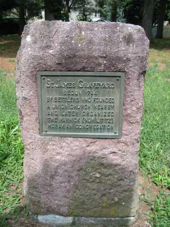 ST JAMES CEMETERY, COMMEMORATIVE MARKER - Lancaster County, Pennsylvania | COMMEMORATIVE MARKER ST JAMES CEMETERY - Pennsylvania Gravestone Photos