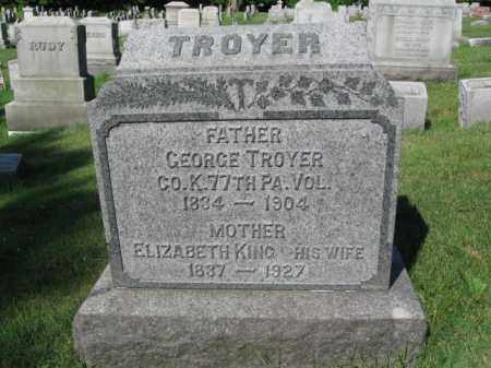 TROYER (CW), GEORGE - Lancaster County, Pennsylvania | GEORGE TROYER (CW) - Pennsylvania Gravestone Photos