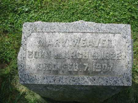WEAVER, MARY - Lancaster County, Pennsylvania | MARY WEAVER - Pennsylvania Gravestone Photos