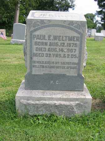 WELTMER, PAUL E - Lancaster County, Pennsylvania | PAUL E WELTMER - Pennsylvania Gravestone Photos