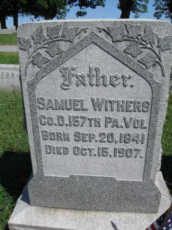 WITHERS (CW), SAMUEL - Lancaster County, Pennsylvania | SAMUEL WITHERS (CW) - Pennsylvania Gravestone Photos