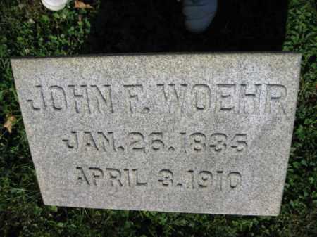 WOEHR, JOHN F. - Lancaster County, Pennsylvania | JOHN F. WOEHR - Pennsylvania Gravestone Photos