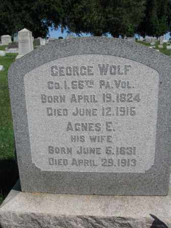 WOLF (CW), GEORGE - Lancaster County, Pennsylvania | GEORGE WOLF (CW) - Pennsylvania Gravestone Photos