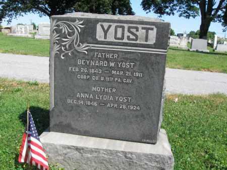 YOST (CW), BEYNARD W. - Lancaster County, Pennsylvania | BEYNARD W. YOST (CW) - Pennsylvania Gravestone Photos