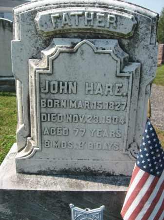 HARE, JOHN - Lebanon County, Pennsylvania   JOHN HARE - Pennsylvania Gravestone Photos