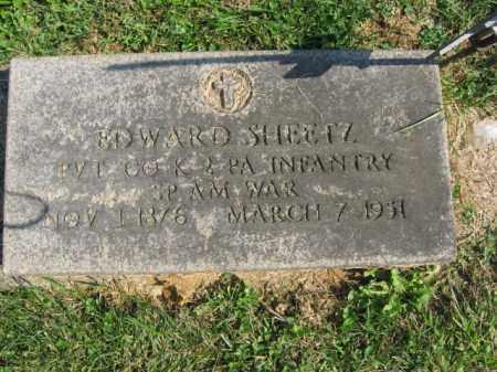 SHEETZ, EDWARD - Lebanon County, Pennsylvania   EDWARD SHEETZ - Pennsylvania Gravestone Photos