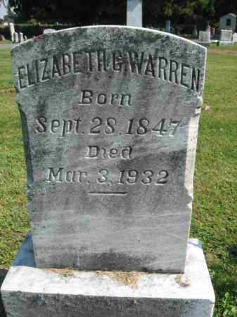 WARREN, ELIZABETH G. - Lebanon County, Pennsylvania   ELIZABETH G. WARREN - Pennsylvania Gravestone Photos