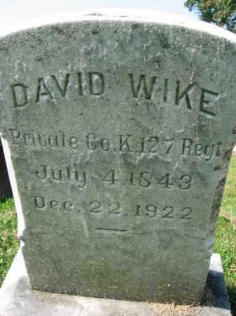 WIKE (WEIK), DAVID Y. - Lebanon County, Pennsylvania | DAVID Y. WIKE (WEIK) - Pennsylvania Gravestone Photos