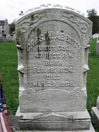 ABBOTT, LT.COL. CHARLES W. - Lehigh County, Pennsylvania | LT.COL. CHARLES W. ABBOTT - Pennsylvania Gravestone Photos