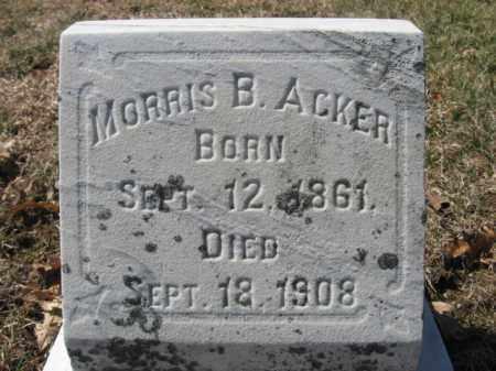 ACKER, MORRIS B. - Lehigh County, Pennsylvania | MORRIS B. ACKER - Pennsylvania Gravestone Photos