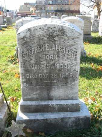 ALBRIGHT (ALLBRIGHT) (CW), STEPHEN E. - Lehigh County, Pennsylvania   STEPHEN E. ALBRIGHT (ALLBRIGHT) (CW) - Pennsylvania Gravestone Photos