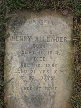 ALLENDER, HENRY - Lehigh County, Pennsylvania | HENRY ALLENDER - Pennsylvania Gravestone Photos