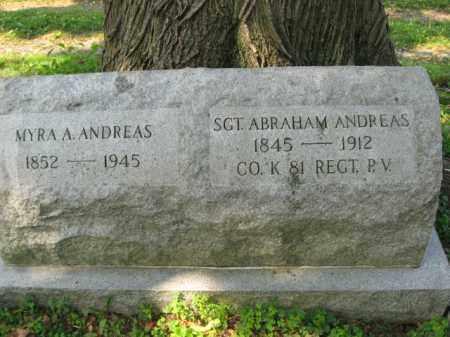 ANDREAS, SGT. ABRAHAM - Lehigh County, Pennsylvania | SGT. ABRAHAM ANDREAS - Pennsylvania Gravestone Photos