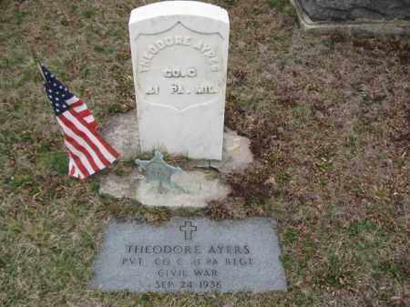 AYRES (AYERS)  (CW), PVT.THEODORE - Lehigh County, Pennsylvania | PVT.THEODORE AYRES (AYERS)  (CW) - Pennsylvania Gravestone Photos