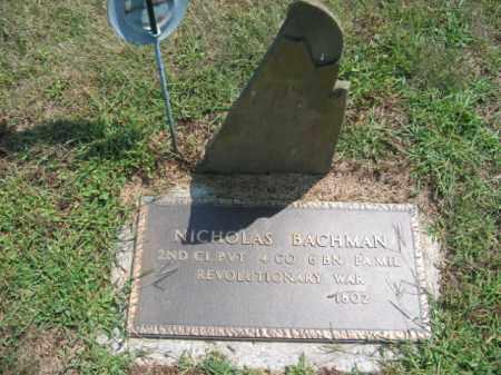 BACHMAN, NICHOLAS - Lehigh County, Pennsylvania | NICHOLAS BACHMAN - Pennsylvania Gravestone Photos