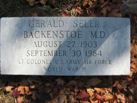 BACKENSTOE, GERALD SELER - Lehigh County, Pennsylvania | GERALD SELER BACKENSTOE - Pennsylvania Gravestone Photos