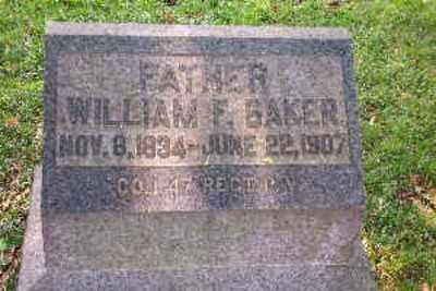 BAKER, WILLIAM F. - Lehigh County, Pennsylvania | WILLIAM F. BAKER - Pennsylvania Gravestone Photos