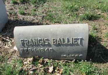 BALLIET (CW), FRANCIS - Lehigh County, Pennsylvania | FRANCIS BALLIET (CW) - Pennsylvania Gravestone Photos