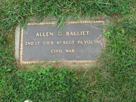 BALLIET, LT.ALLEN G. - Lehigh County, Pennsylvania | LT.ALLEN G. BALLIET - Pennsylvania Gravestone Photos