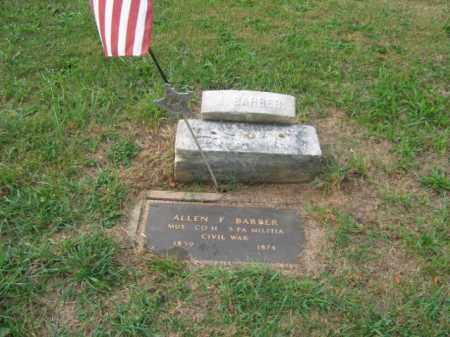 BARBER, ALLEN F. - Lehigh County, Pennsylvania   ALLEN F. BARBER - Pennsylvania Gravestone Photos