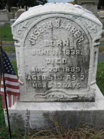 BARBER, JOSEPH - Lehigh County, Pennsylvania | JOSEPH BARBER - Pennsylvania Gravestone Photos