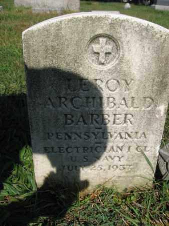 BARBER, LEROY ARCHIBALD - Lehigh County, Pennsylvania | LEROY ARCHIBALD BARBER - Pennsylvania Gravestone Photos