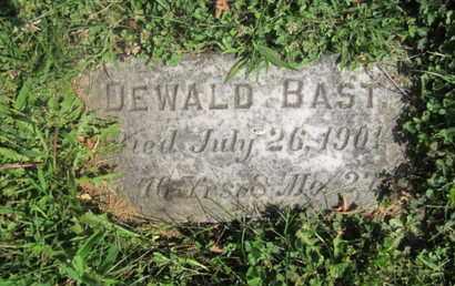 BAST, DEWALD - Lehigh County, Pennsylvania   DEWALD BAST - Pennsylvania Gravestone Photos