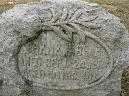 BEAR, FRANK L. - Lehigh County, Pennsylvania | FRANK L. BEAR - Pennsylvania Gravestone Photos