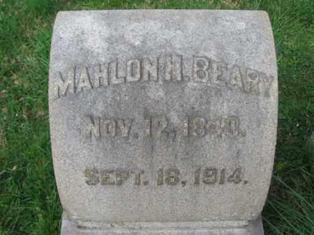 BEARY (CW), MAHLON H. - Lehigh County, Pennsylvania | MAHLON H. BEARY (CW) - Pennsylvania Gravestone Photos