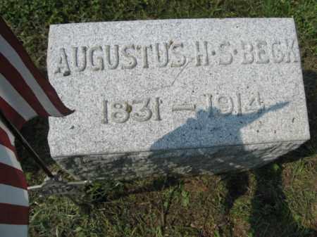 BECK, AUGUSTUS H.S. - Lehigh County, Pennsylvania   AUGUSTUS H.S. BECK - Pennsylvania Gravestone Photos