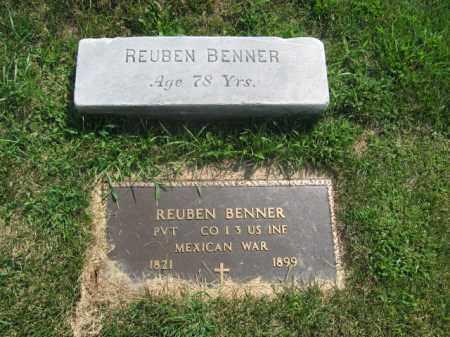 BENNER, REUBEN - Lehigh County, Pennsylvania | REUBEN BENNER - Pennsylvania Gravestone Photos