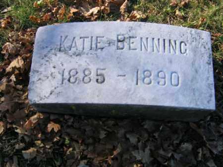 BENNING, KATIE - Lehigh County, Pennsylvania   KATIE BENNING - Pennsylvania Gravestone Photos