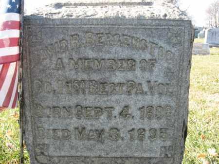 BERGENSTOCK, DAVID R. - Lehigh County, Pennsylvania   DAVID R. BERGENSTOCK - Pennsylvania Gravestone Photos